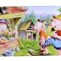 Jual Puzzle Jigsaw Kayu 6x10 (60 Potong) Kotak Kaleng 3 Little Pig PL-053 Murah
