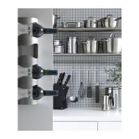IKEA VURM 4-Bottle Wine Rack, Rak untuk 4 botol anggur, Stainless Stee