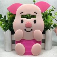 Case Samsung Galaxy E5 3d Cartoon Cute Pink Pig Shape Soft Back Cover