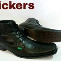Sepatu Pantofel Kickers Pria Kulit Asli Black