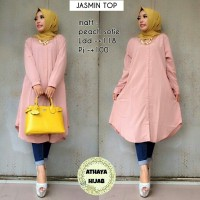 Long Blouse Tunik Muslim Wanita JASMIN