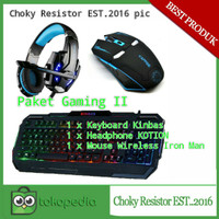 Paket Gaming Keyboard Kinbass, Headphone Kotion And Mouse Wireless 1