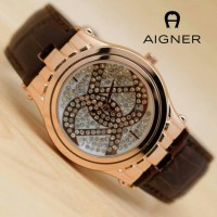 Jam Tangan Fashion Aigner Ladies Watch ER602 - Brown