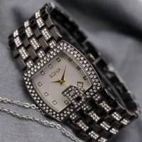 Jam Tangan Fashion Bonia LS457 Ladies Watch - Black Plat White