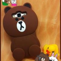 Case Silicone Rubber 3D Brown Samsung J2,J3,J5,J7 dan ( J5 & J7 2016)