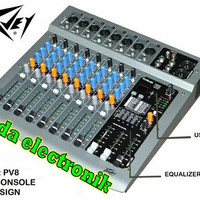 MIXER PEAVEY PV 8 ( 8 CHANNEL )