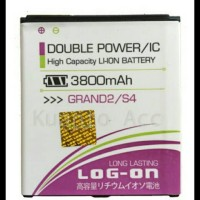 Baterai Log on Samsung S4/Grand 2/Mega 5.8/Original/Double Power