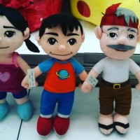 Boneka tokoh film kartun PADA ZAMAN DAHULU KALA SiAris Ara & Kakek SNI
