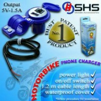 Charger USB Hand phone motor, Motor cycle Phone Car Water proof