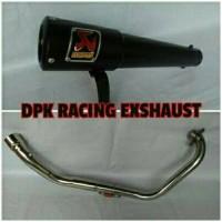 Knalpot Racing Akra Gard Black Cb150, Cbr150, Tiger, Megapro