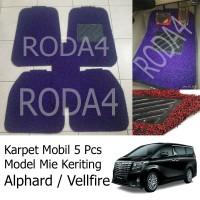 Karpet Mobil / Floor Mats Universal Mie Keriting Alphard / Vellfire