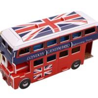 3D puzzle - london bus doubledecker (bus tingkat)