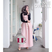 overall navy hitam /jumpsuit/rok/hijab