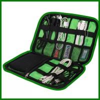 BUBM Gadget Organizer Bag Portable Case - DIS-L - Black/Green- Tas