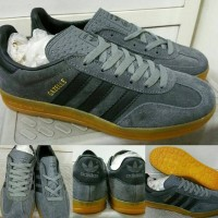 Sepatu Kets Sneakers Adidas Gazelle Indoor Gumsole Grey Abu