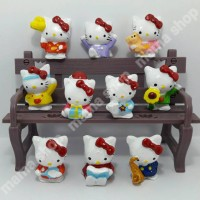 Miniatur Figure Figur Hello Kitty Hiasan Kue Topper Ultah