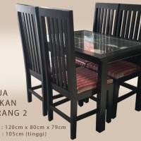 Meja Makan + 4 Kursi Makan Free Ongkir Jakarta