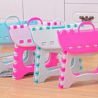 [HOT PROMO] Kursi / Bangku Lipat Plastik Portabel untuk Anak Kecil