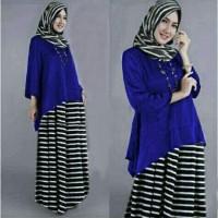 Setelan Maura Blouse Hijab Gamis Muslimah Blus Murah Rok Cantik A015