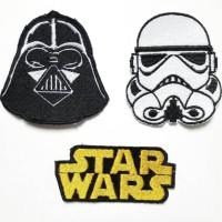 Star Wars Movie Patch Set Darth Vader Stormtrooper emblem / bordir