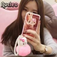 Casing / Luxury Bling Mirror Diamond Hello Kitty iPhone 6 6s Soft Case