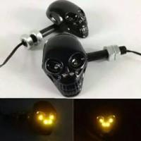 harga LED Lampu Sein Sen Sign Riting Tengkorak Skull Motor Universal Tokopedia.com