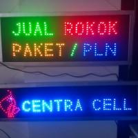 harga Papan Tulisan Lampu Led Sign Custom Centra Cell + Logo Kucing Merah Tokopedia.com