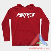 Hoodie - Sweater Funtech -Red -Front Logo