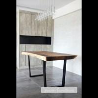 meja makan kayu trembesi (Furniture,kursi tamu,lemari, bufet,meja)