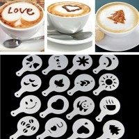 Jual 1 SET alat cetak gambar lukis cetakan bubuk taburan hias kopi latte Murah