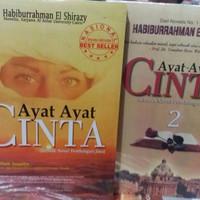 Buku sepaket novel ayat-ayat cinta jilid 1 dan 2 by habiburrahman el s