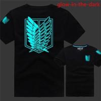 Jual Kaos/T-Shirt ATTACK ON TITAN GLOW IN THE DARK 0.9 HITAM High Quality Murah