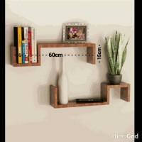 Rak Dinding Minimalis/Floating Shelf. 1 set (2pcs)