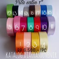 Jual Pita Satin 2,5 cm / Pita satin untuk rosebud / pita satin roll Murah