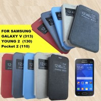 Flip Cover Single Window view Samsung Galaxy v /young 2/pocket 2