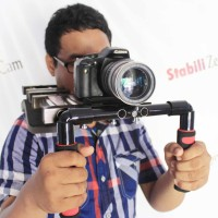 Shoulder Rig with Counter Weight Camera Kamera DSLR ARTechno DIY