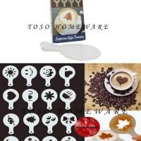 Jual Gater Coffee Stencil Cetakan Kopi Coffee Latte Art Tabur Bubuk Cokelat Murah