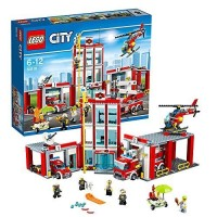 LEGO City-60110 Fire Station Set Building Toy Kid Car Truck Helicopter