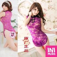 Lingerie 0017 Cheongsam Purple Ungu Set Murah Seksi Sexy