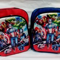 Tas sekolah 3D The Avengers gambar timbul Captatin America Iron Man