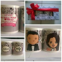 Wedding Gift Mug / Mug Couple / Mug pasangan