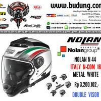 harga Helm nolan n44 evo n_com metal white 016 Tokopedia.com