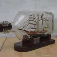 MIniatur Kapal KRI Dewaruci dalam Botol Mansion | Kado Souvenir Ultah