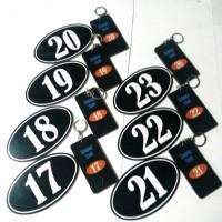 Nomor kamar kost dan gantungan kunci ( 1 set )