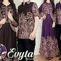 Couple Evyta Batik Cardigan Gamis Wanita Baju Kondangan Pesta A131