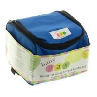 Baby Pax - Cooler Bag Set Blue (Tas Penyimpan ASI + 4 Botol Kaca ASI )