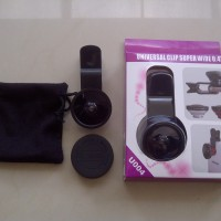 Jual Lensa SUPERWIDE 0.4x Jepit Universal, pasangan tongsis (Dup) Murah