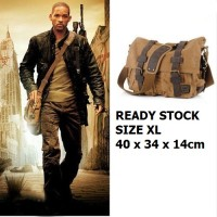 harga Tas kanvas import messenger bag canvas leather slempang Yellow khaki Tokopedia.com