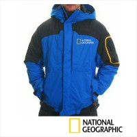 harga Jaket / Jacket Hoodie National Geographic Biru Waterproof Tokopedia.com