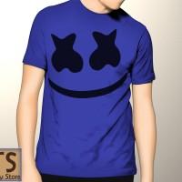 Kaos Biru DJ Marshmallow PC1 Tismy Store
